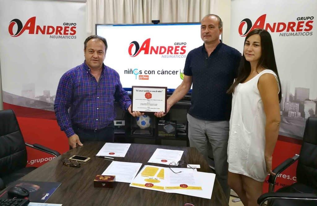 Neumáticos Andrés se solidariza con el cáncer infantil.