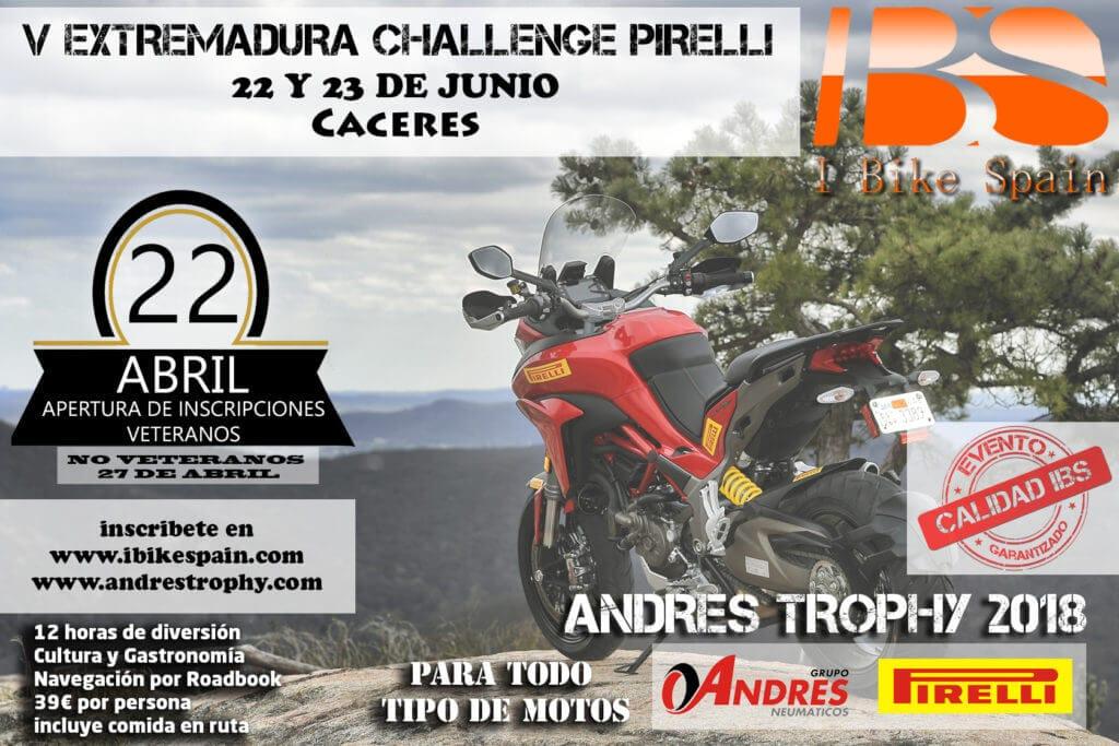 andrés trophy extremadura challenge pirelli