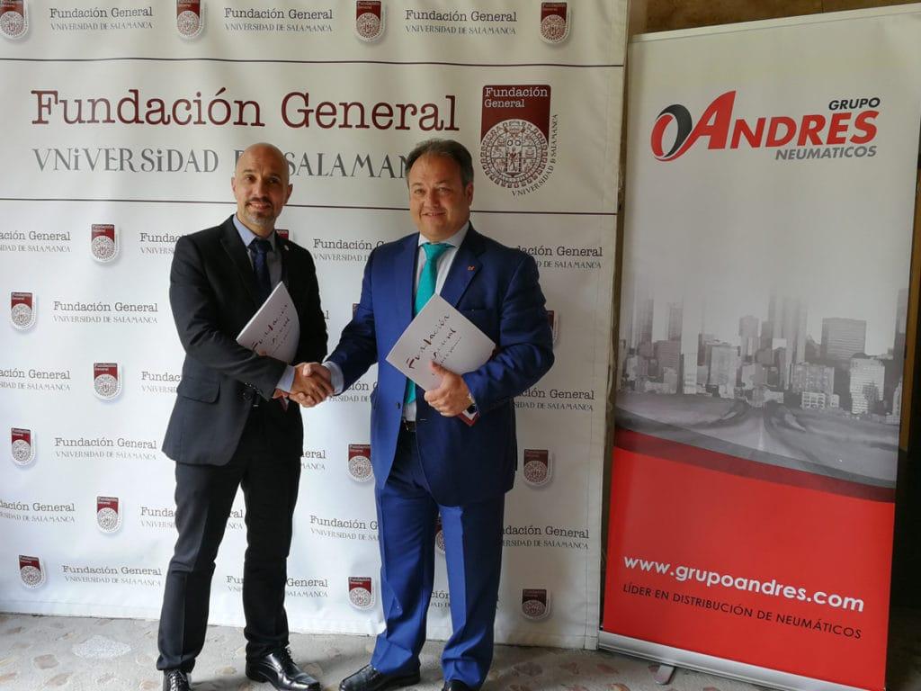 Óscar Glez director Fundación Gral USAL y Eduardo Salazar director Grupo Andrés