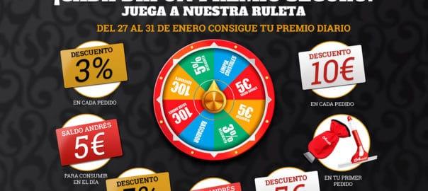ruleta de premios en Neumáticos Andrés