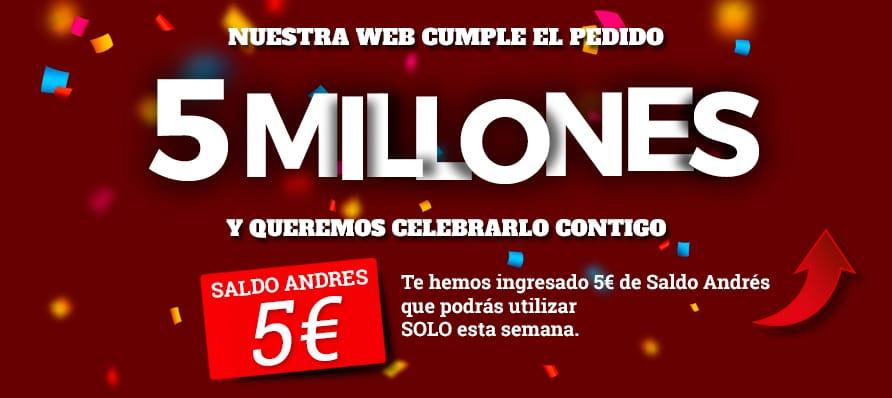 5 millones pedidos online