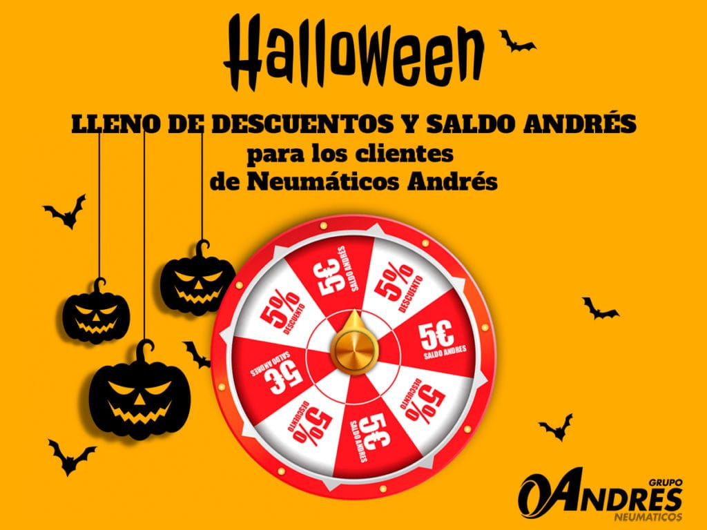 Ruleta de Halloween Neumaticos Andres