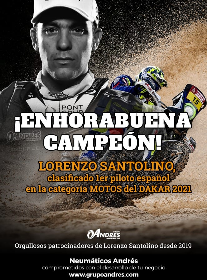 Lorenzo Santolino en el Dakar 2021 Final (1)