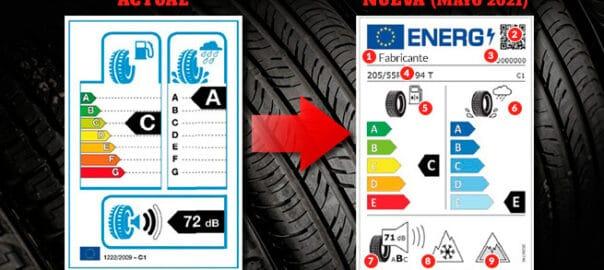 nueva etiqueta neumático